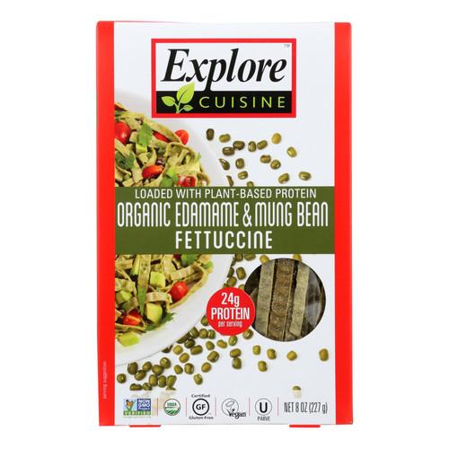 Explore Cuisine - Fettuccine Pasta - Edamame & Mung Bean - Case of 6 - 8 oz.