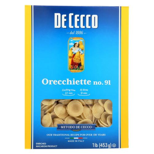 De Cecco Pasta - Pasta - Orecchiette - Case of 12 - 16 oz