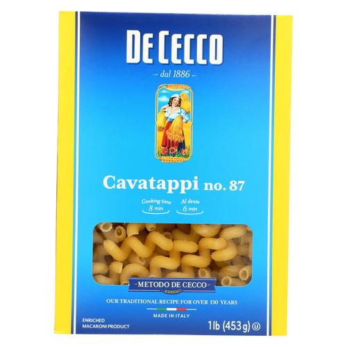 De Cecco Pasta - Pasta - Cavatappi - Case of 12 - 16 oz