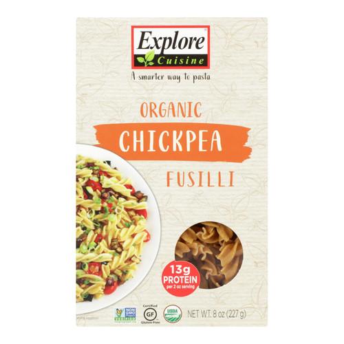Explore Cuisine Organic Chickpea Fusilli - Chickpea Fusilli - Case of 6 - 8 oz.