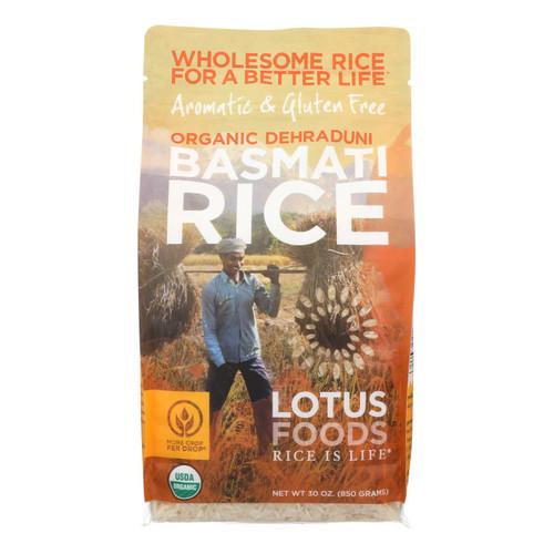Lotus Foods Organic Rice - Basmati - Case of 6 - 30 oz