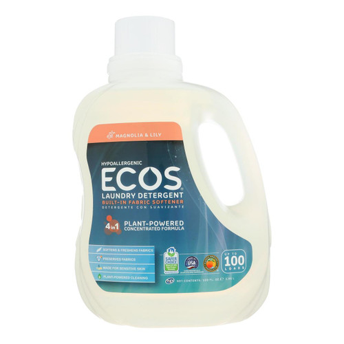 Earth Friendly Ecos Ultra 2x All Natural Laundry Detergent - Magnolia and Lily - 50 oz