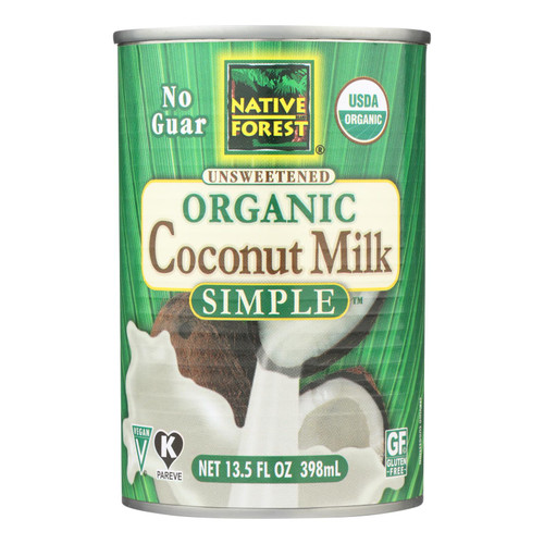 Native Forest Organic Coconut Milk - Pure and Simple - Case of 12 - 13.5 fl oz
