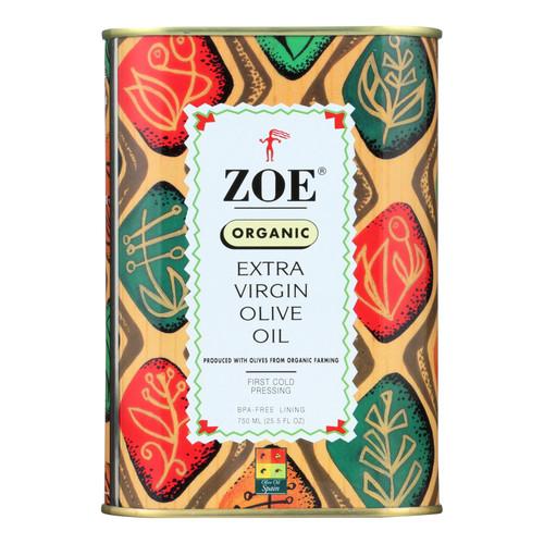 Zoe - Organic Extra Virgin Olive Oil - Case of 6 - 25.5 fl oz.