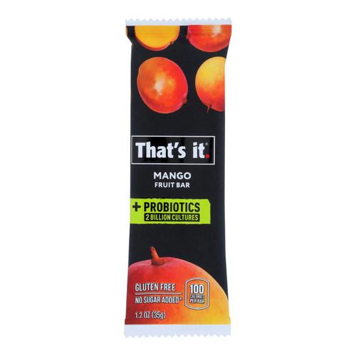 That's It - Probiotic Fruit Bar Mango - Case of 12 - 1.2 OZ