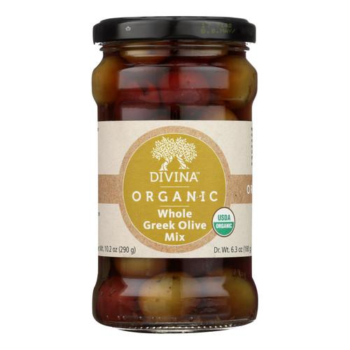 Divina - Organic Greek Mixed Olives - Case of 6 - 6.35 oz.