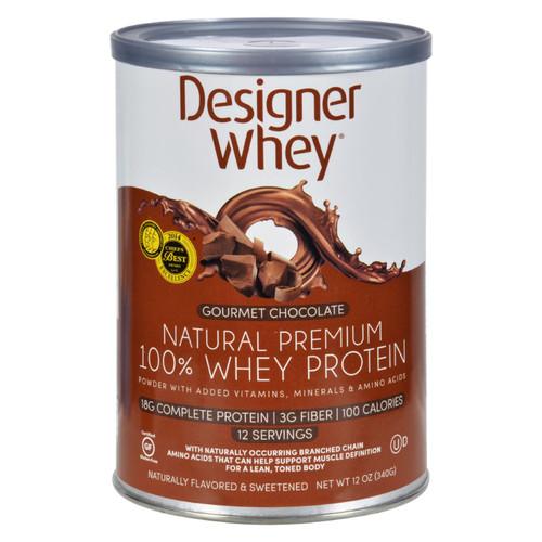Designer Whey Protein Powder Chocolate - 12.7 oz