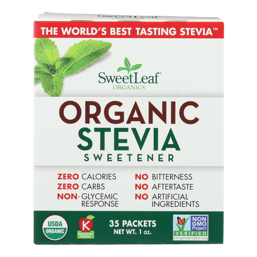Organic Stevia by Sweet Leaf Organics - 35 ct Packets