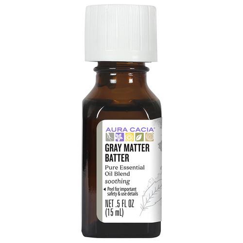 Aura Cacia Gray Matter Batter Essential Oil Blend 0.5oz
