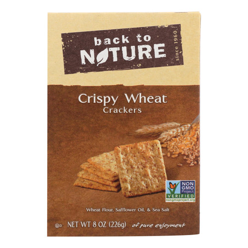 Back To Nature Crispy Crackers - Wheat - Case of 6 - 8 oz.