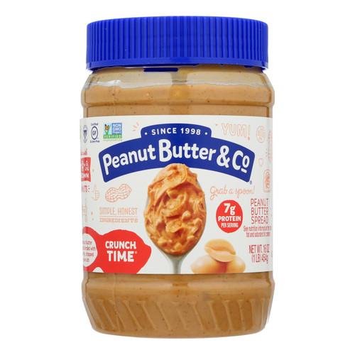 Peanut Butter and Co Peanut Butter - Crunch Time - Case of 6 - 16 oz.