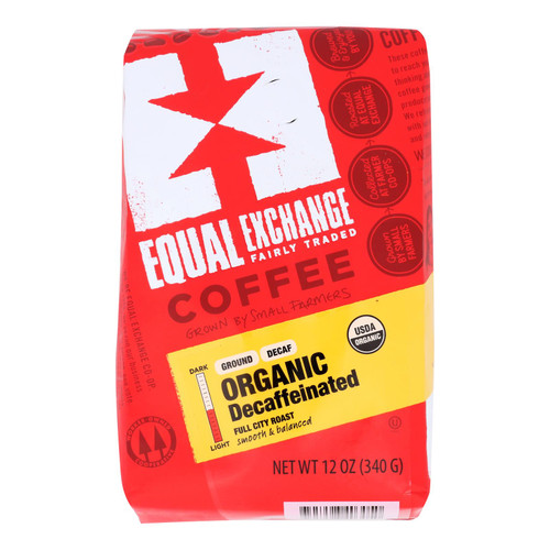 Equal Exchange Organic Drip Coffee - Decaf - Case of 6 - 12 oz.