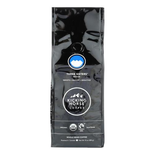 Kicking Horse Coffee - Organic - Whole Bean - Three Sisters - Medium Roast - 10 oz - case of 6