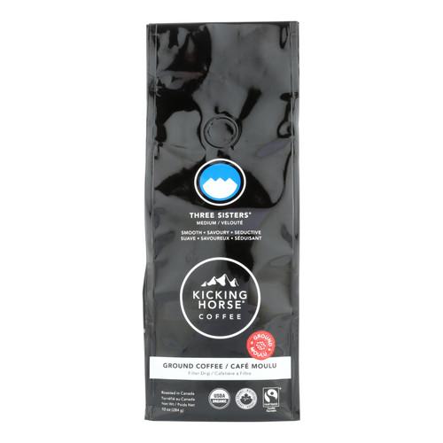 Kicking Horse Coffee - Organic - Ground - Three Sisters - Medium Roast - 10 oz - case of 6