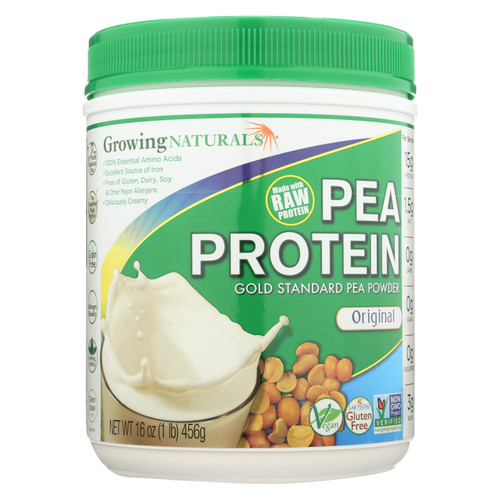 Growing Naturals Yellow Pea Protein - Original - 16 oz