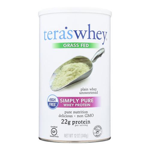 Tera's Whey Protein - rBGH Free - Plain - Unsweetened - 12 oz