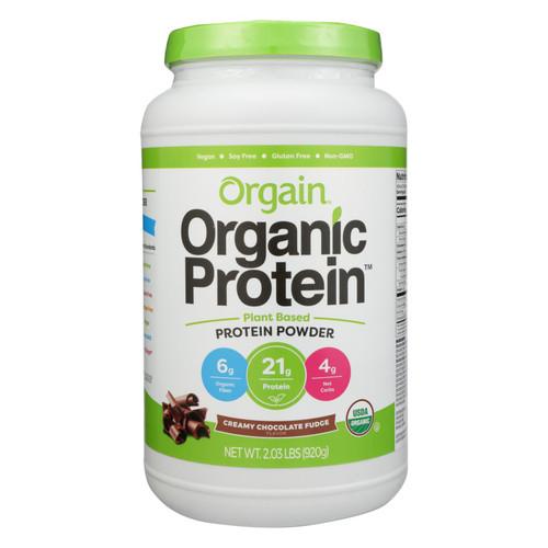 Orgain Organic Protein Powder - Plant Based - Creamy Chocolate Fudge - 2.03 lb on  Appalachian Organics