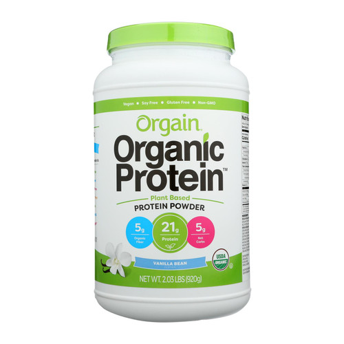 Orgain Organic Protein Powder - Plant Based - Sweet Vanilla Bean - 2.03 lb on  Appalachian Organics