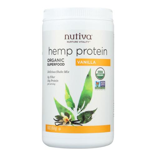 Nutiva Organic Hemp Shake Vanilla - 16 oz on  Appalachian Organics