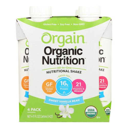 Orgain Organic Nutrition Shake - Vanilla Bean - 11 fl oz - Case of 12 on  Appalachian Organics