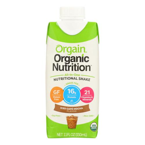 Orgain Organic Nutrition Shake - Mocha - 11 fl oz - Case of 12 on  Appalachian Organics