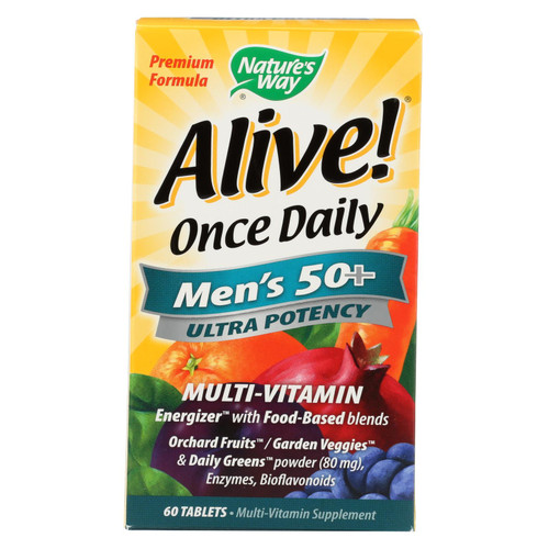 Nature's Way Alive! Once Daily Men's 50 plus Multi-Vitamin - 60 Tablets