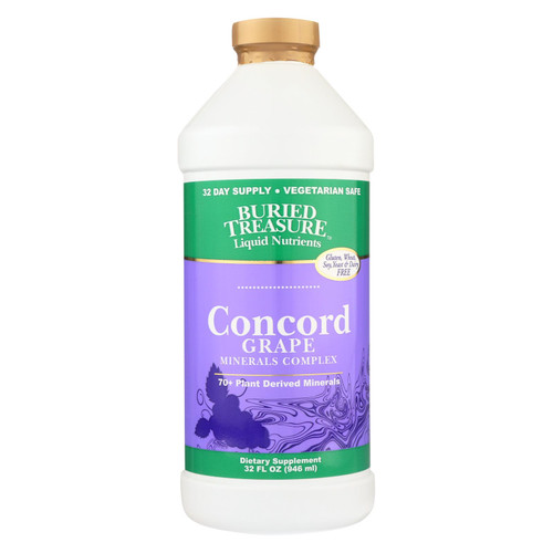 Buried Treasure 70 Plus Plant Derived Minerals Concord Grape - 32 fl oz on  Appalachian Organics
