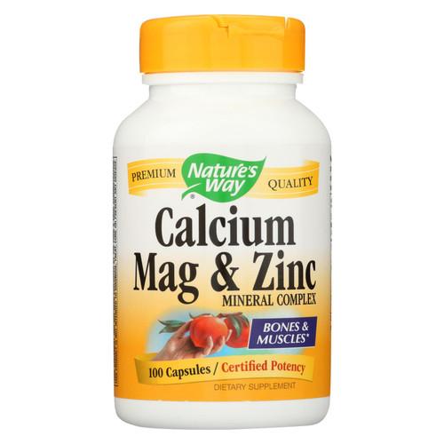 Nature's Way Calcium Mag and Zinc Mineral Complex - 100 Capsules on  Appalachian Organics