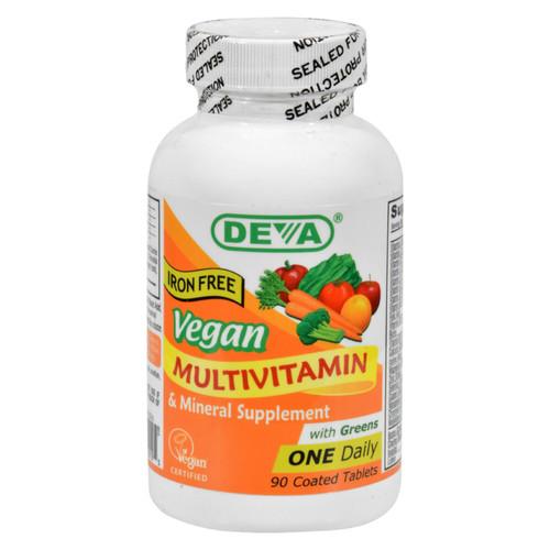 Deva Vegan Multivitamin and Mineral Supplement Iron Free - 90 Tablets