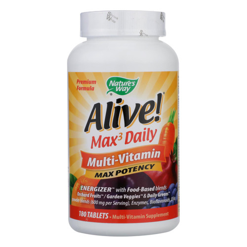 Nature's Way Alive! Whole Food Energizer Multi-Vitamin - 180 Tablets