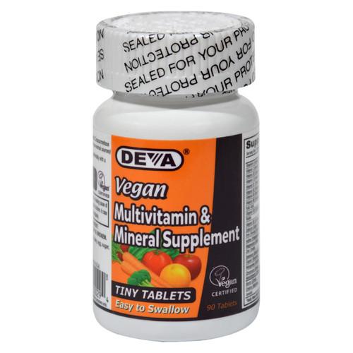 Deva Vegan Multivitamin and Mineral Supplement - 90 Tiny Tablets