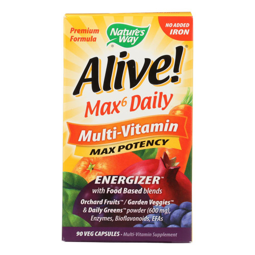 Nature's Way Alive! Whole Food Energizer Mult-Vitamin - 90 Vcaps