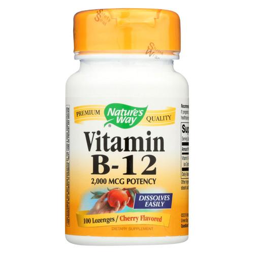 Nature's Way Vitamin B-12 - 2000 mcg - 100 Lozenges