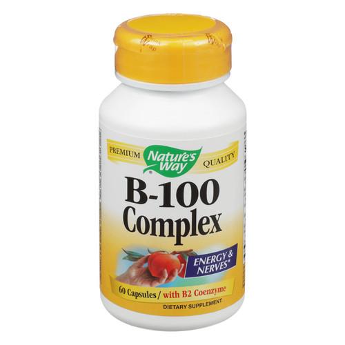 Nature's Way Vitamin B-100 Complex - 60 Capsules