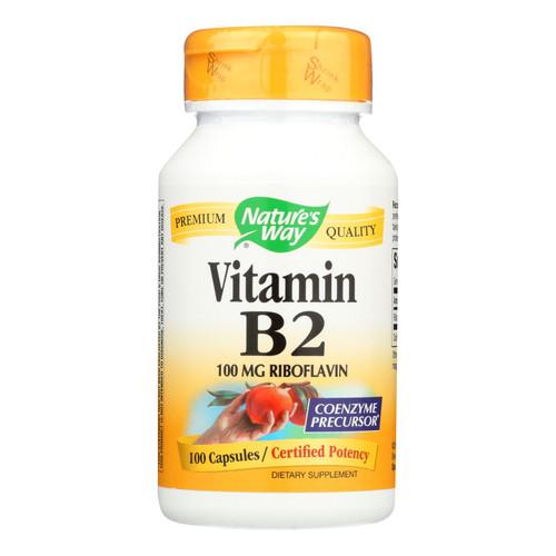 Nature's Way Vitamin B-2 - 100 mg - 100 Capsules
