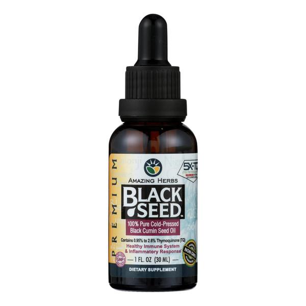 Amazing Herbs Black Seed Oil - Cold Pressed - Premium - 1 fl oz