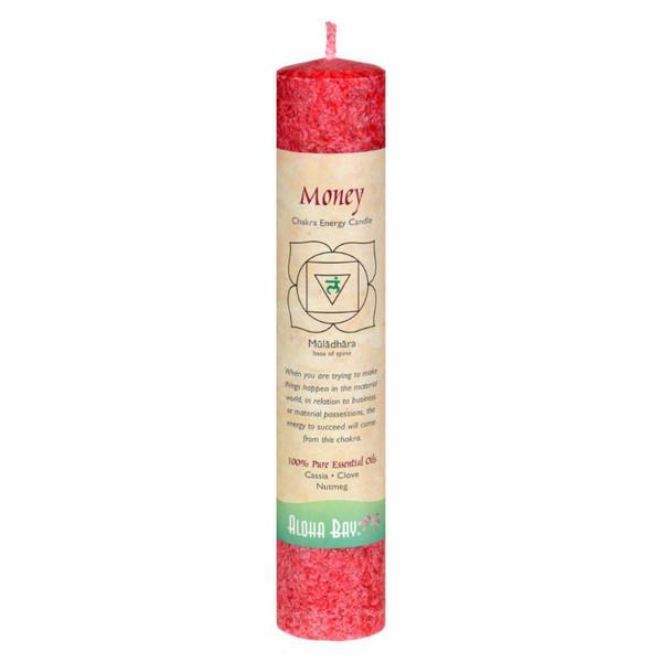 "Aloha Bay Chakra Pillar Candle - Red - 8"""