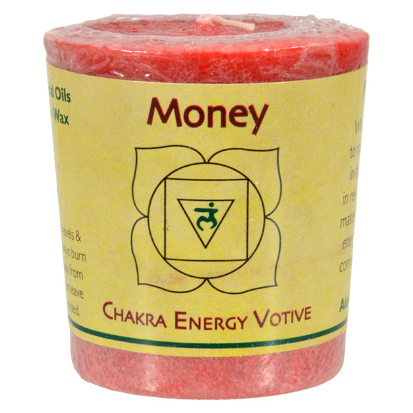 Aloha Bay Chakra Votive Candle - Money - Case of 12 - 2 oz