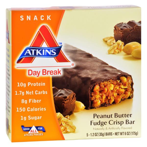 Atkins Day Break Bar Peanut Butter Fudge Crisp - 5 Bars on  Appalachian Organics