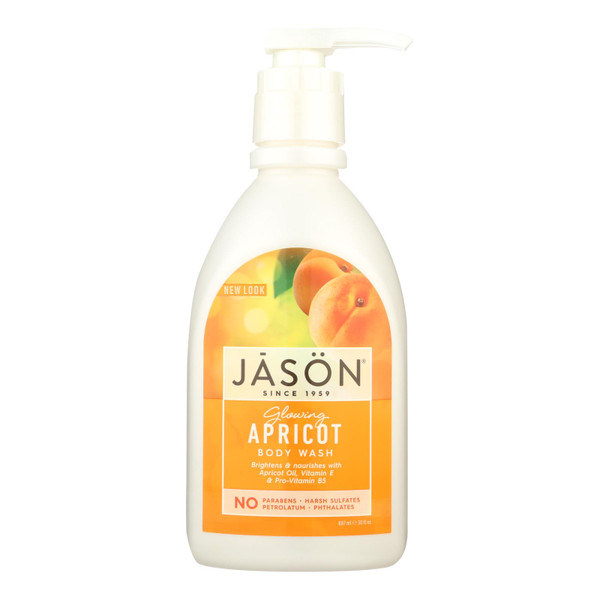 Jason Satin Shower Body Wash Apricot - 30 fl oz