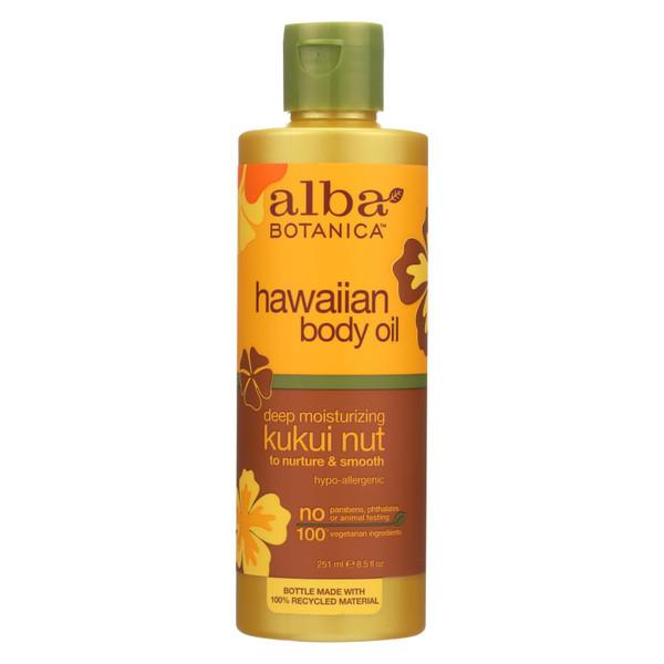 Alba Botanica Hawaiian Body Oil Kukui Nut - 8.5 fl oz