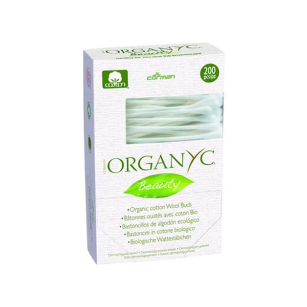 Organyc Beauty Cotton Swabs - 200 Pack