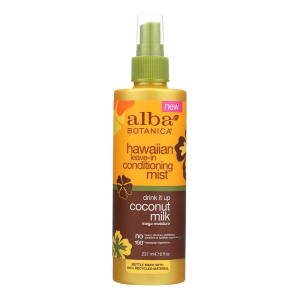 Alba Botanica Leave In Conditioning Mist - Hawaiian - Drink It Up Coconut Milk - 8 oz