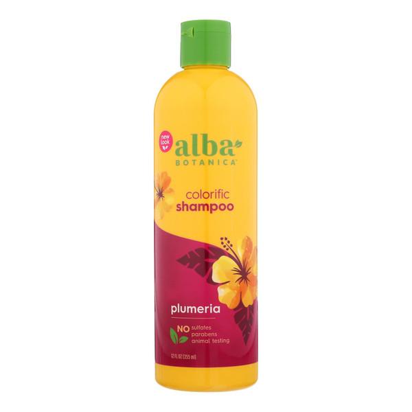 Alba Botanica Hawaiian Natural Shampoo Colorific Plumeria - 12 fl oz