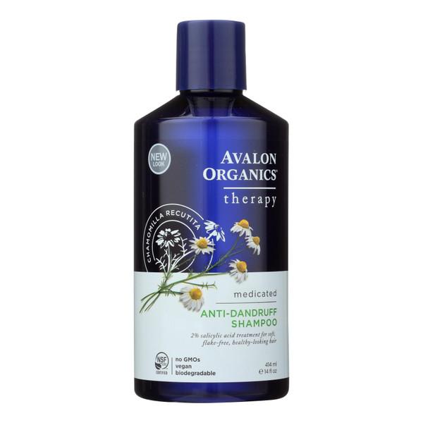 Avalon Active Organics Shampoo - Anti Dandruff - 14 oz