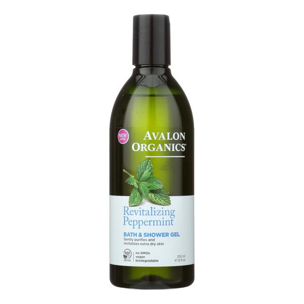Avalon Organics Bath and Shower Gel Peppermint - 12 fl oz