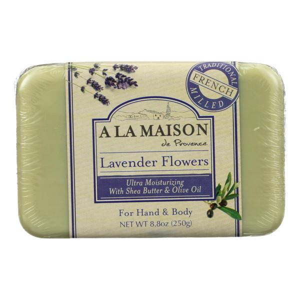 A La Maison Bar Soap Lavender Flowers - 8.8 oz