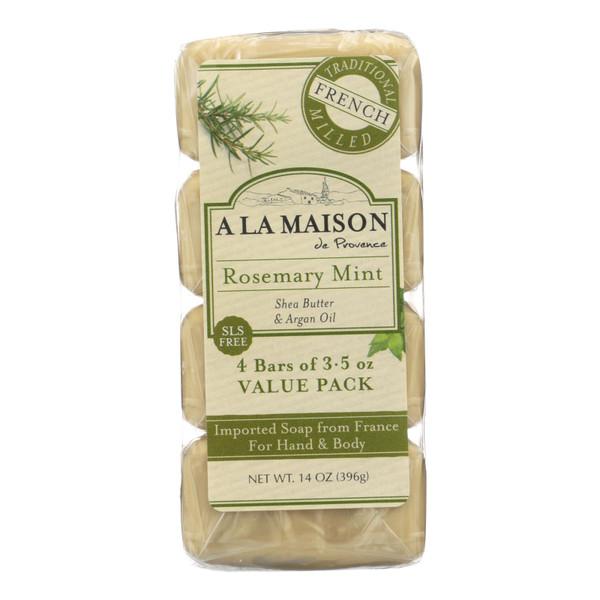 A La Maison Bar Soap - Rosemary Mint - Value 4 Pack