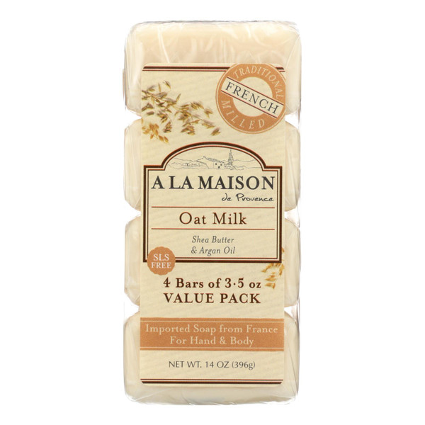 A La Maison Bar Soap - Oat Milk - Value 4 Pack