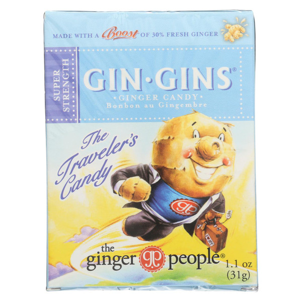 Ginger People Gingins Super Boost Candy - Case of 24 - 1.1 oz on  Appalachian Organics